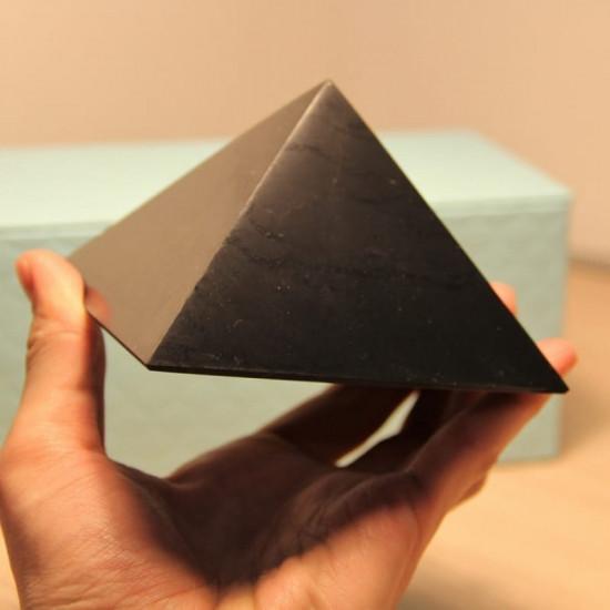 Shungitt - Polert - Pyramide 100mm