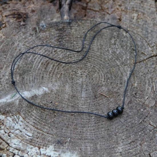 Shungitt - Protective string necklace - Anheng