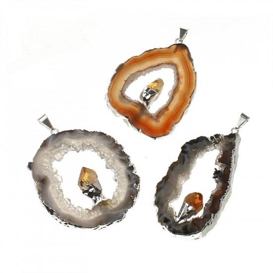 Agat med citrin - Anheng