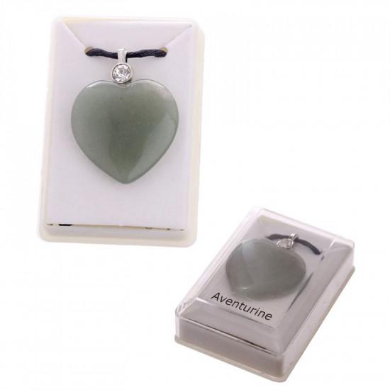 Hjerte - Grønn Aventurin - Anheng