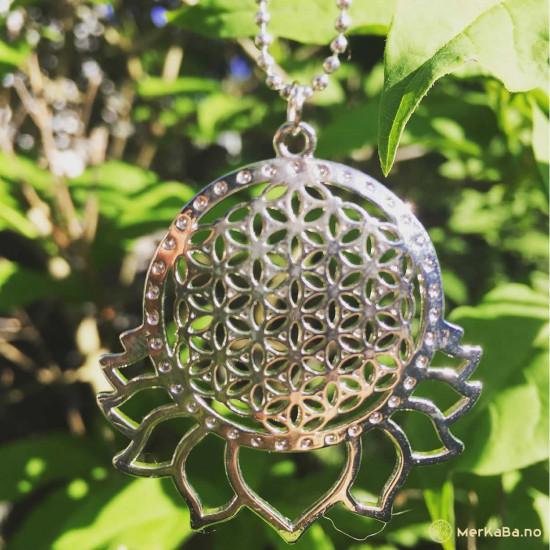 Livets blomst - Sølvfarget