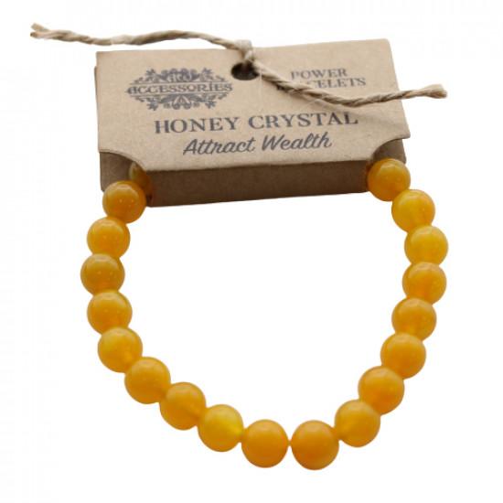 Honning Kalsitt - Armbånd