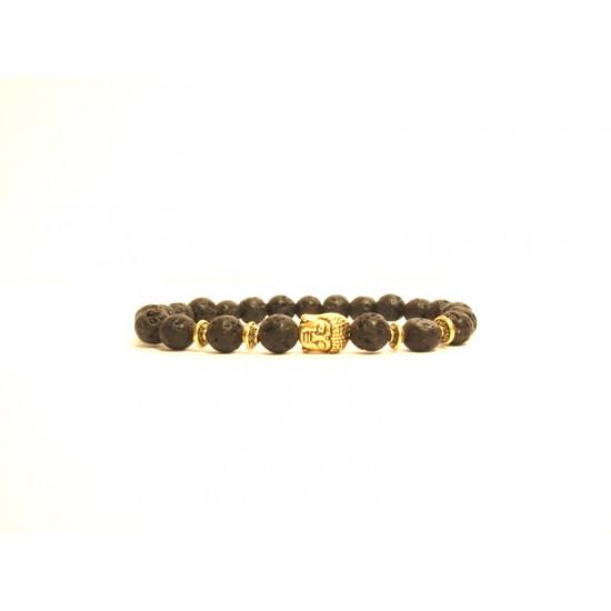 Lavaperler - Gullfarget buddha