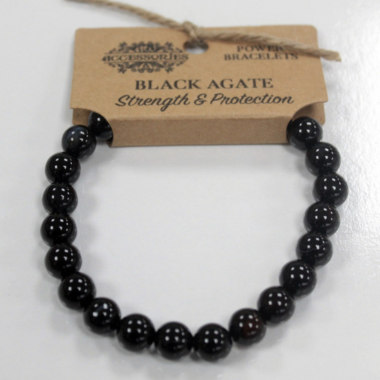 Sort Agat - Armbånd