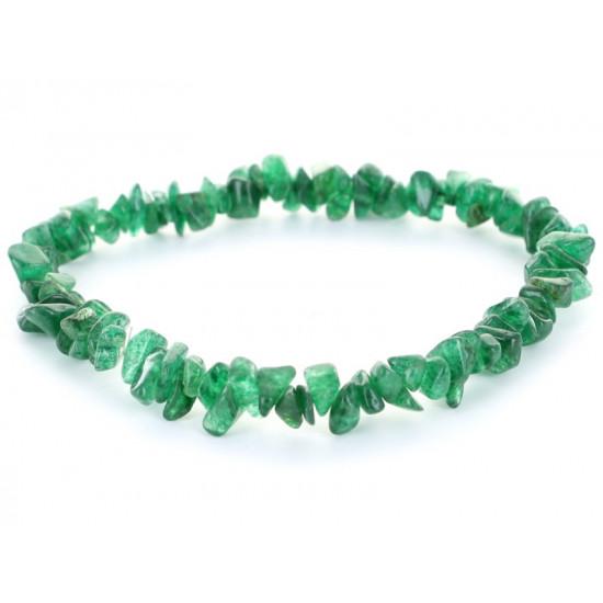 Grønn Aventurin - chip armbånd
