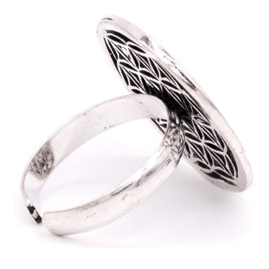 Flower of life - Sølvforgylt messing ring
