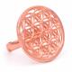 Flower of life - Kobberforgylt messing ring