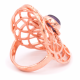 Seed of life - Ametyst - Kobberforgylt messing ring
