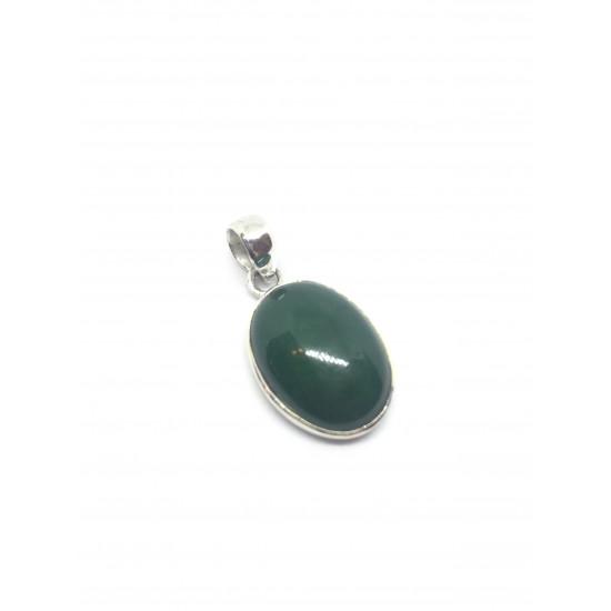 Grønn Aventurin - Oval - Sølvanheng