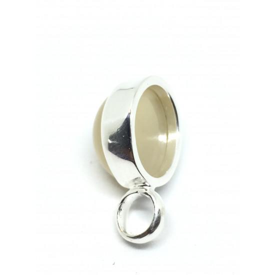 Månesten - sølvanheng