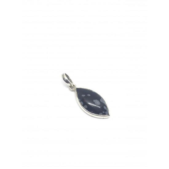 Snøfnugg Obsidian  - Sølvanheng