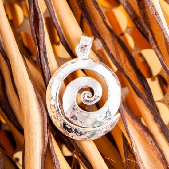 Spiral - håndhamret - Sølvanheng