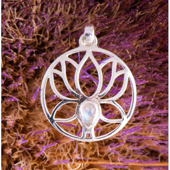Lotus med månesten - Sølvanheng
