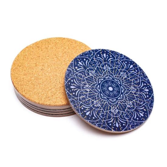 Mandala - Blå - Bordbrikker