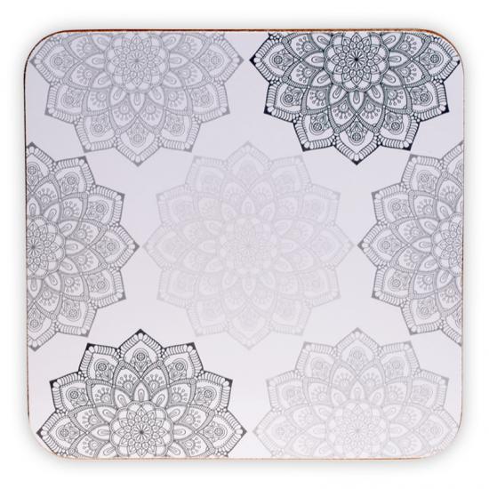 Mandala - Grå - Bordbrikker