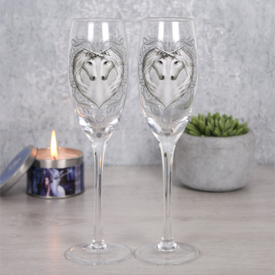 Enhjørning - Champagneglass