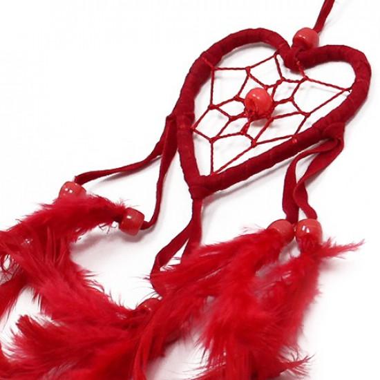 Hjerte Drømmefanger - Rød