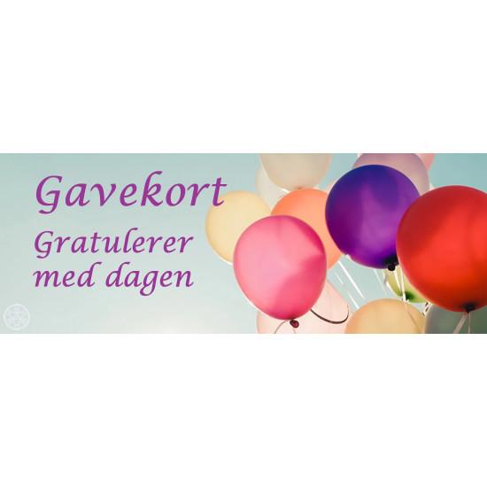 Gavekort - Bursdag - 200,-