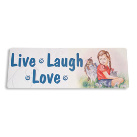 Inspiring Angel Sticker - Live Laugh Love