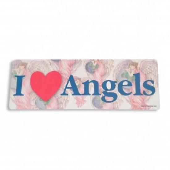 Inspiring Angel Sticker -  I Love Angels