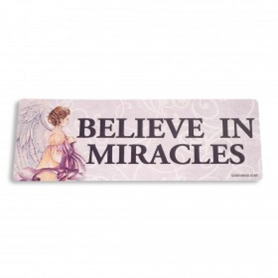 Inspiring Angel Sticker -  Believe in Miracles