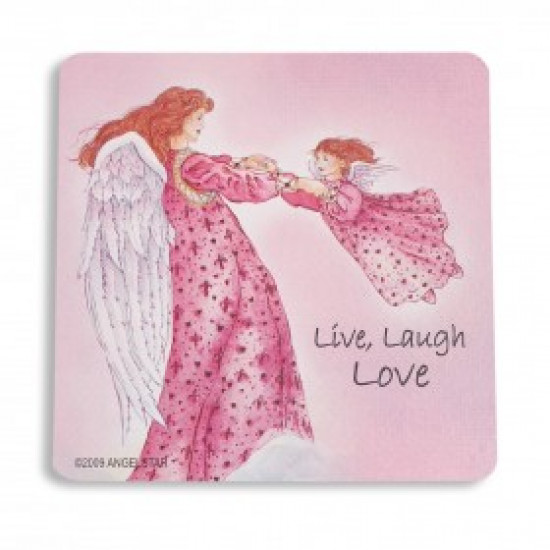 Inspiring Angel Sticker - Live Laugh Love