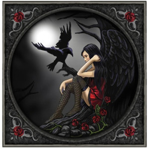 Lisa Parker - Eternally yours gothic angel and raven  - Kort
