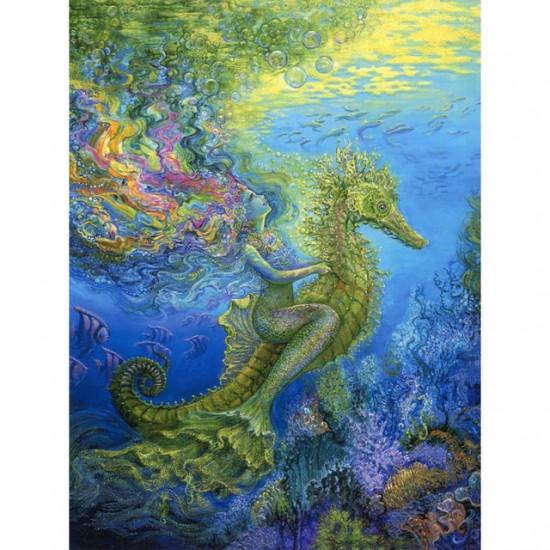 Birthday - Mermaid & Seahorse - Kort