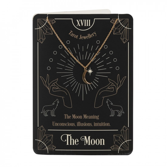 Kort med halskjede - The Moon Tarot