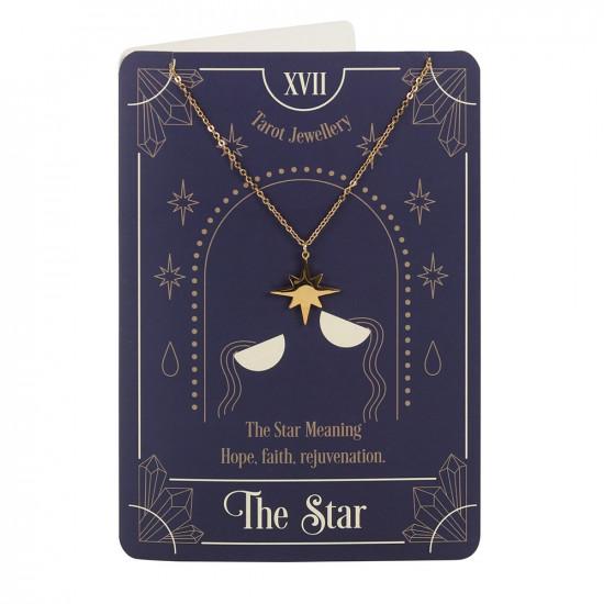 Kort med halskjede - The Star Tarot