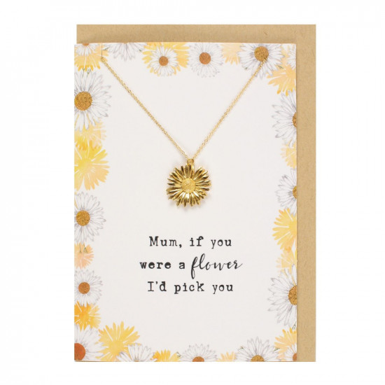 Kort med halskjede - Mum If You Were A Flower