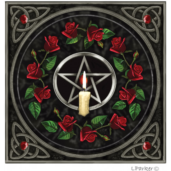 Lisa Parker - Pentagram and candle - Kort