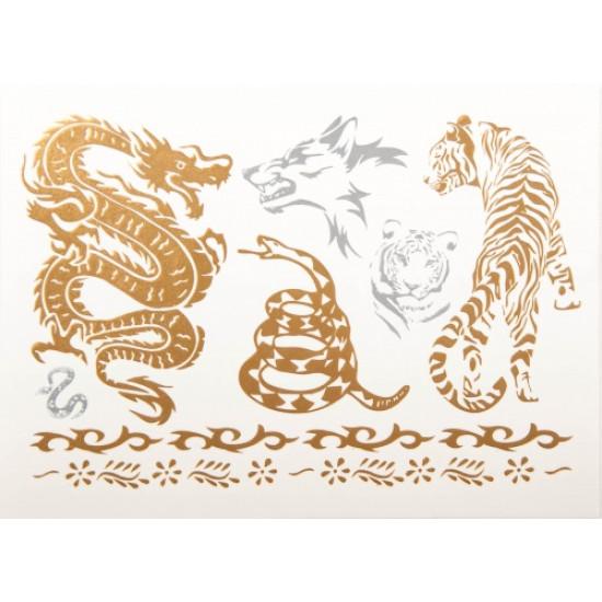 Kraftdyr-metall tatoveringer