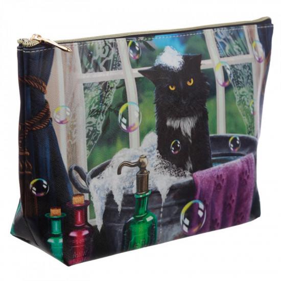 Bath Time Cat - Toalettmappe