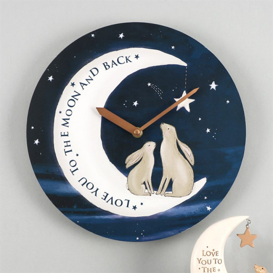 Love you to the moon and back - Veggklokke