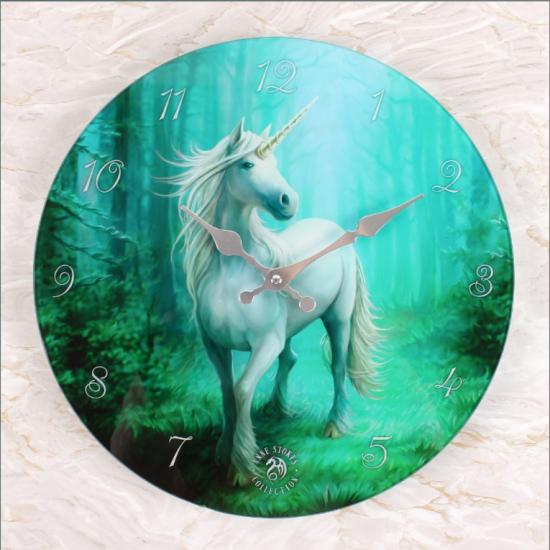 Forest Unicorn - Glass - Veggklokke