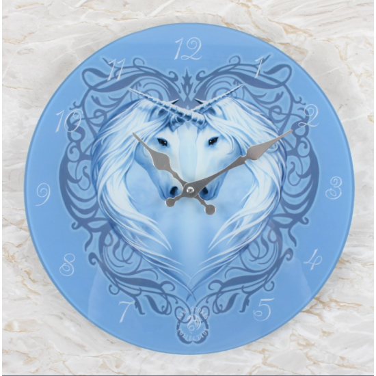 Unicorn Heart - Glass - Veggklokke