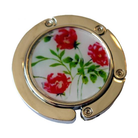 Veskeholder - Røde blomster